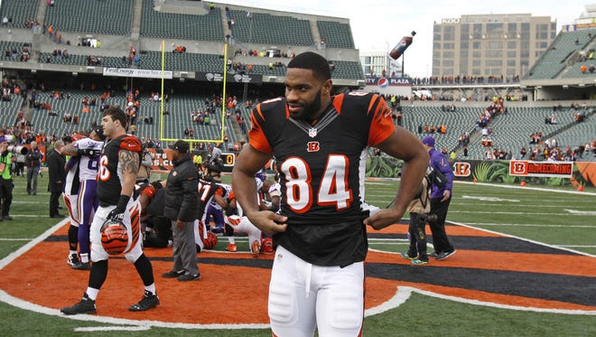 Jermaine Gresham has been absent so far at Organized Team Activities.