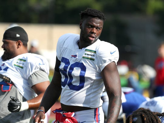 Bills defensive lineman Shaq Lawson is fighting to regain his spot on the line.
