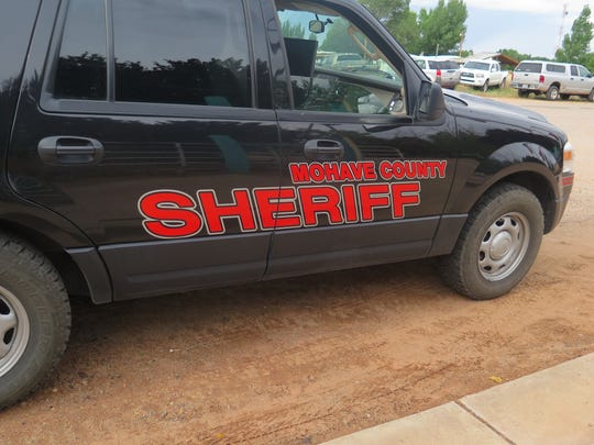 A Mohave County Sheriff's vehicle patrols in this file