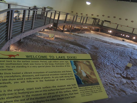 Signage points the way for visitors to a new exhibit