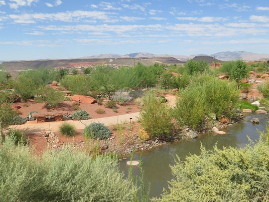 The Red Hills Desert Garden sits along Red Hills Parkway in St. George.