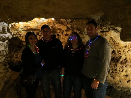 Visitors don glow sticks for Cave of the Mounds' Cave