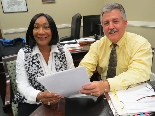 Ann Moore (left) and Larry DiChiara (right) worked together during the state's intervention of Selma City Schools. Both were finalists for the MPS interim superintendent position.