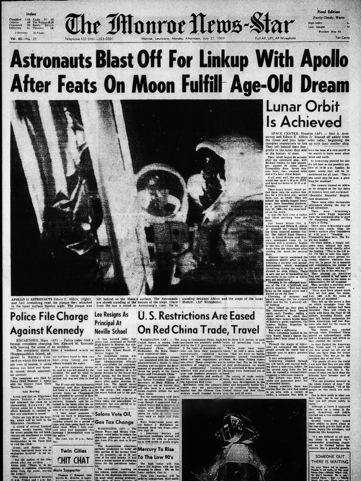 Vintage front page of The News-Star