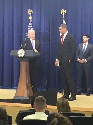 Former Pinnacle basketball player Cody McDavis met Vice President Joe Biden at the White House last week.