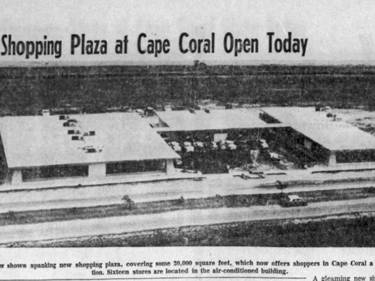 The opening of the first shopping center in Cape Coral