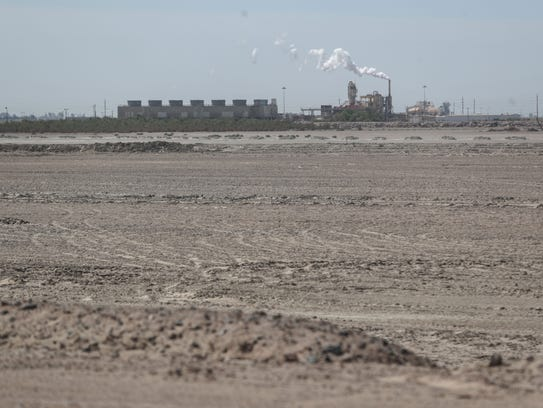 A geothermal power plant at the Salton Sea on Thursday,