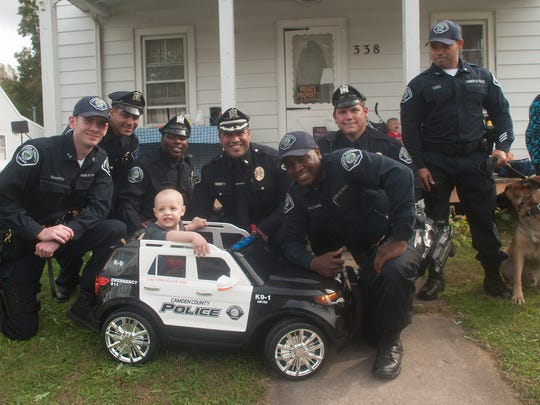 Camden County Police in October surprised 3-year-old Ben Graham of Elmer with his own little police car. The toddler, who died Friday, loved police and police dogs.