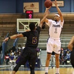 The health of guard Chace Franklin (1) is crucial to Jackson State's SWAC title hopes this weekend.