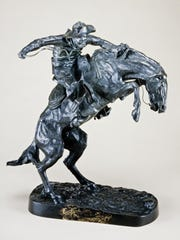 "Frederic Remington's ""The Bronco Buster"" is among the"