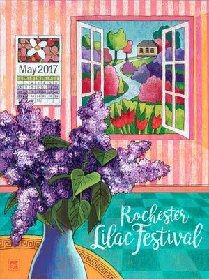2017 Lilac Festival by artist Kurt Pfeiffer.