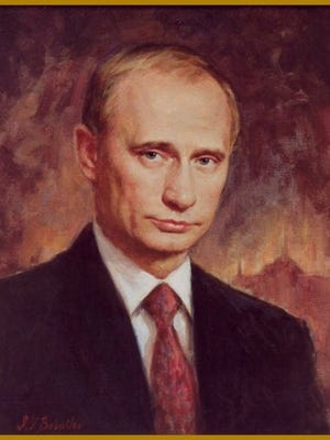 Babailov's portrait of Russian President Vladimir Putin is part of the collection of the Kremlin in Moscow, Russia.