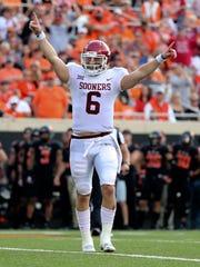 Oklahoma Sooners quarterback Baker Mayfield.