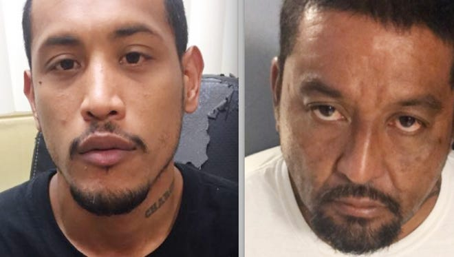 Peter John Chargualaf, left, and Justin Jay Lujan are shown in this combined photo.