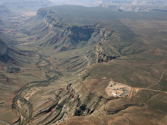 The Kanab North uranium mine is located north of Grand Canyon National Park above Kanab Creek