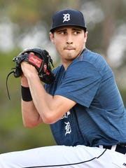 Tigers right-handed pitching prospect Alex Faedo (1-1),