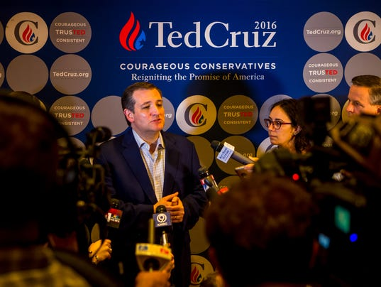 Ted Cruz Holds Campaign Rally In Kansas Ahead Of Caucuses