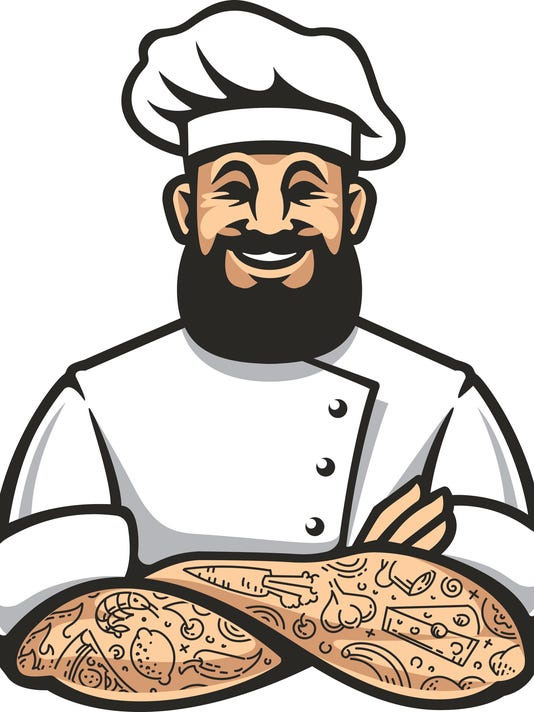 Hipster Chef Vector Icon