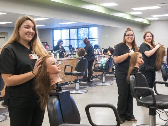 Students can take cosmetology courses through the dual enrollment program with the Tennessee College of Applied Technology.