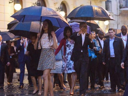 USP NEWS: PRESIDENT BARACK OBAMA VISITS CUBA A CUB