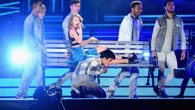 Taylor Swift at MetrLife Stadium in East Rutherford on Friday, July 10.