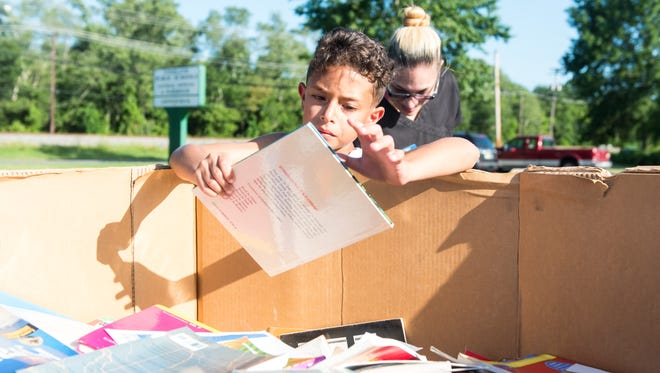 """The Vineland School District hosted a """"Free Book Giveaway Day"""" at District Headquaters on Thursday, August 11."""