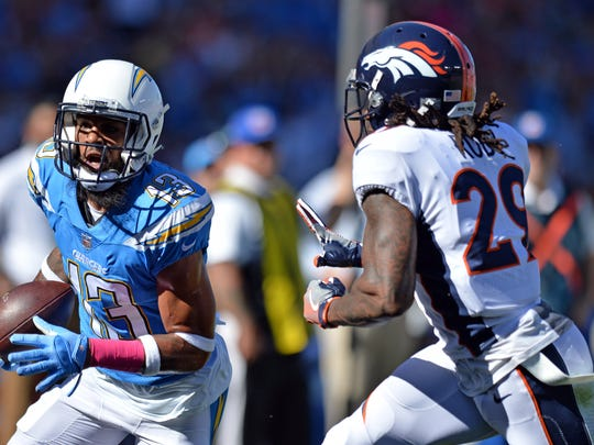 Keenan Allen is the Chargers' leading receiver.