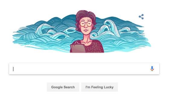 A Google Doodle honoring Katsuko Saruhashi, the first