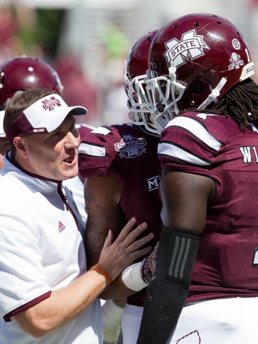 Mississippi State Bulldogs head coach Dan Mullen  talks