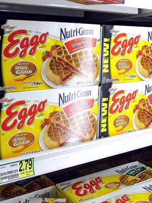 Battle Creek-based Kellogg Co. is recalling about 10,000 cases of Eggo Nutri-Grain Whole Wheat Waffles because the products might be contaminated with bacteria.