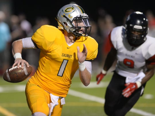 Shea Patterson, Calvary's standout quarterback, will announce his college decision at noon today from his high school.