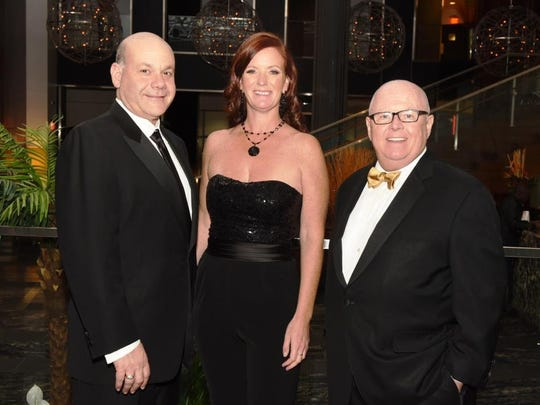 From left, Jack Morris, Chair of Robert Wood Johnson University Hospital's (RWJUH) Board of Directors; Auxiliary of RWJUH President Claire Drain; and RWJUH and Robert Wood Johnson Health System President and CEO Stephen Jones at the Auxiliary of RWJUH's 56th Annual Ball.