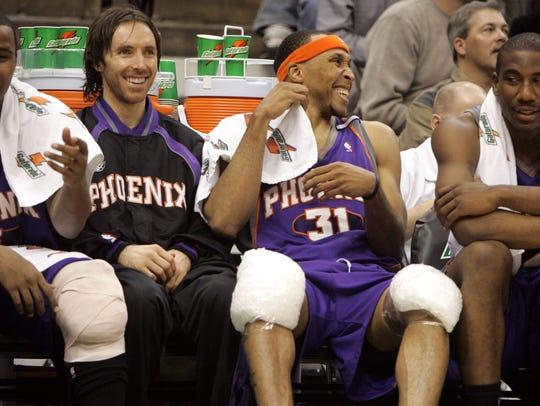 Phoenix Suns Quentin Richardson (from left), Steve