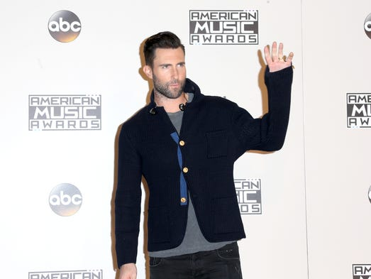 Singer Songwriter Adam Levine Of Musical Group Maroon