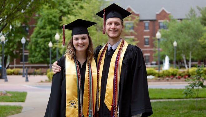 Allison Hebert and Austin Ross were selected by Drury faculty and staff as the Outstanding Senior Man & Woman of the Year for their accomplishments inside and outside the classroom.