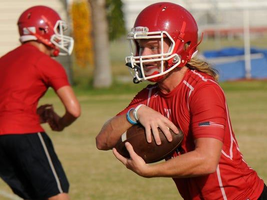 High School Football: Cocoa Beach Football Practice