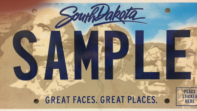 This is what the new South Dakota license plates will look like after Jan. 1, 2015.