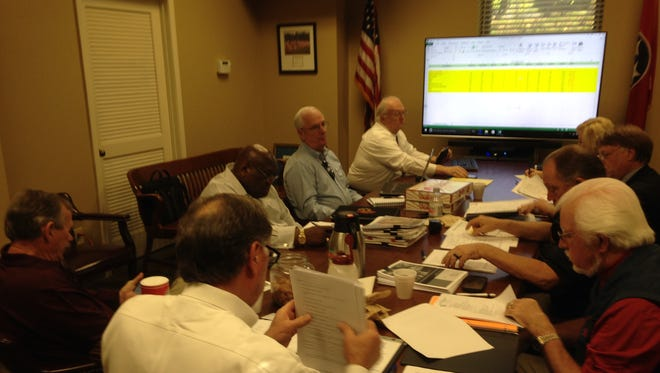 Members of the Jail Project Screening Committee met at the Madison County Courthouse on Monday.