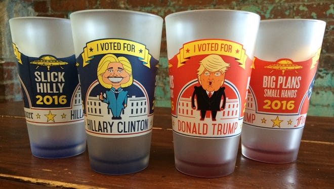 The Flying Saucer is using pint glasses for its unofficial election year poll.