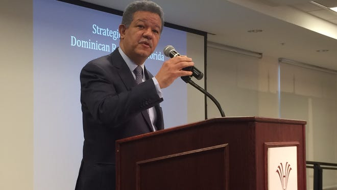 Leonel Fernandez, former president of the Dominican Republic, spoke Monday at Hodges University in Fort Myers.
