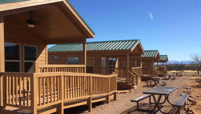 The four cabins at Kartchner Caverns State Park include heat, air conditioning and a microwave