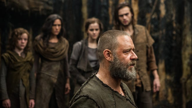 From left: Leo McHugh Carroll, Jennifer Connelly, Emma Watson, Russell Crowe and Douglas Booth star in 'Noah,' which took the number one spot a the box office during its opening weekend.