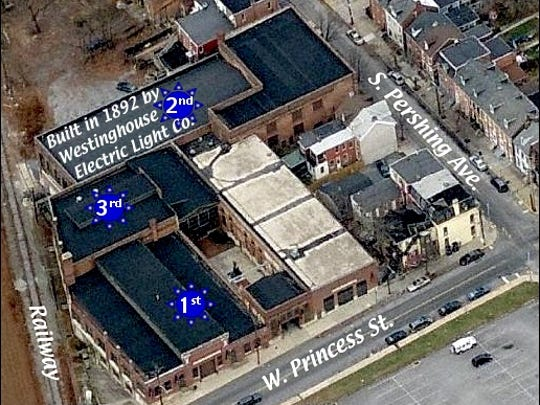 Northward Looking Bing.com Birds Eye Aerial View of Agricultural and Industrial Museum of the York County Heritage Trust (Annotated by S. H. Smith, 2016)