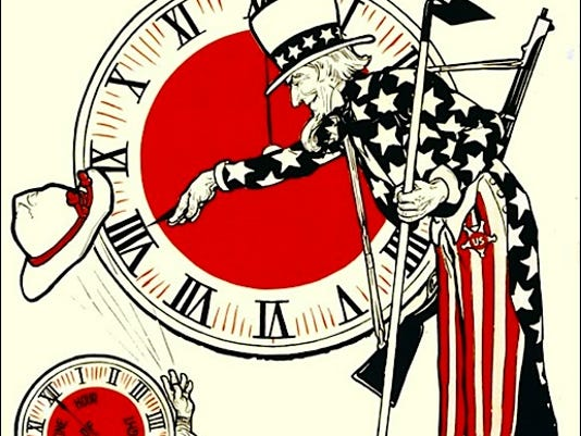 Section of 1917 poster promoting the adoption of Daylight Saving Time in the United States (Library of Congress)