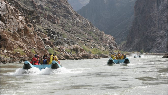 Chance the rapids on the Colorado River as it snakes through the Grand Canyon.