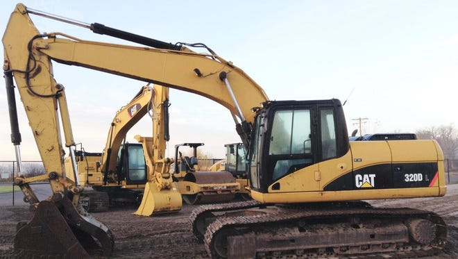 An excavator, similar to this one, went missing from a ranch near Holliday sometime Feb. 13-14.
