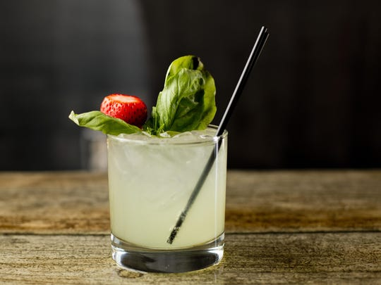 "A ""Basil Smash"" is a popular summer cocktail at Casey's Pizza and Subs."