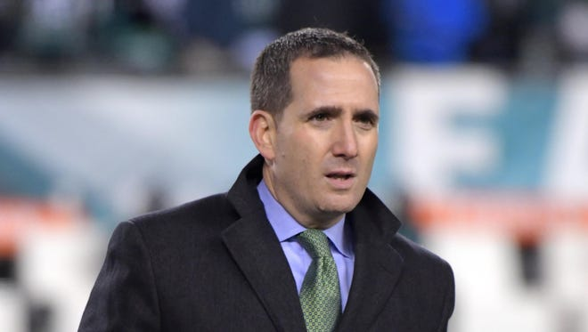 Philadelphia Eagles general manager Howie Roseman during an NFL football game Oakland Raiders at Lincoln Financial Field.