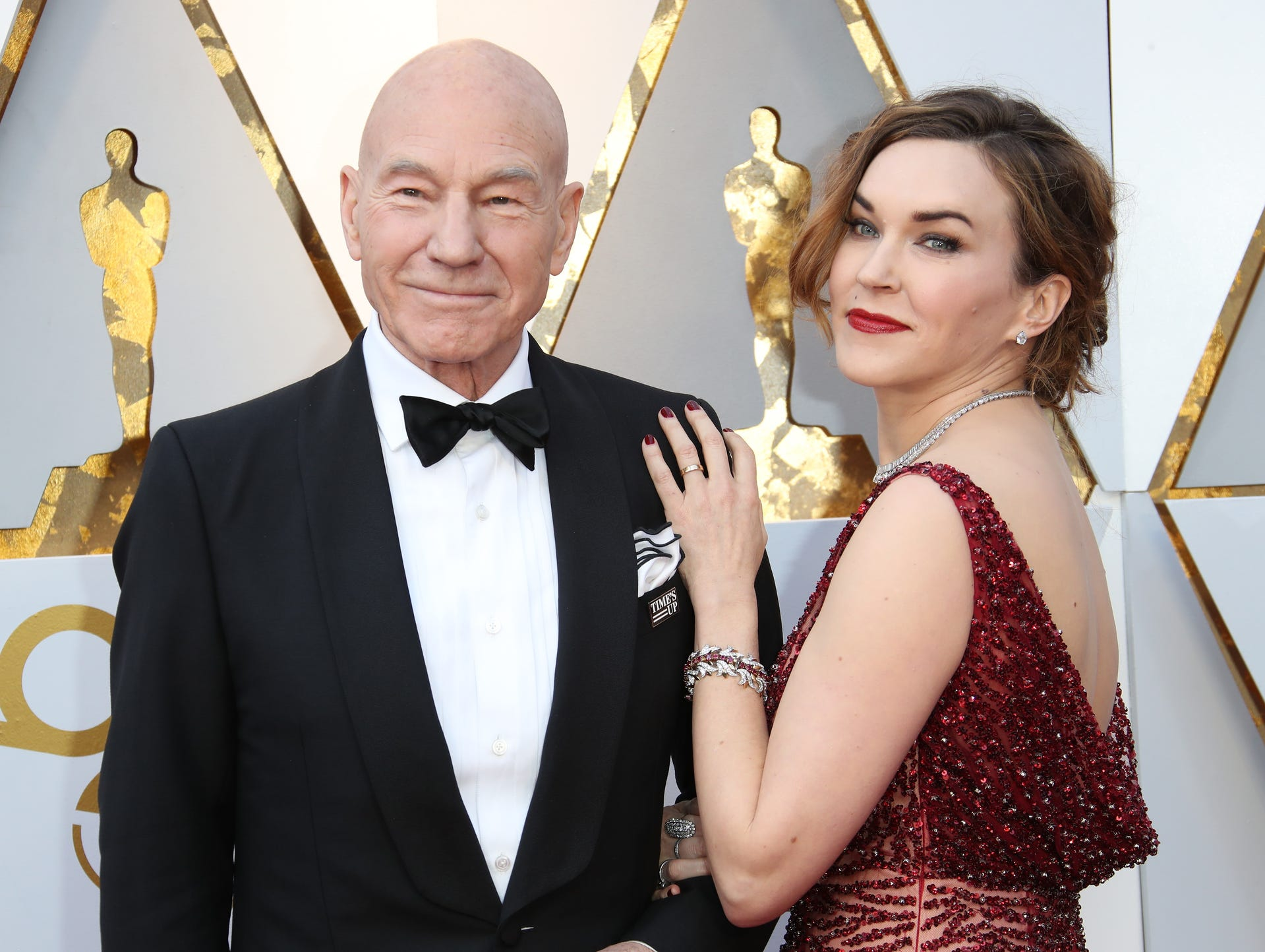 Patrick Stewart, left and Sunny Ozell
