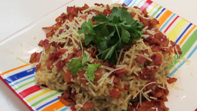 Crisp Peppered Bacon Risotto
